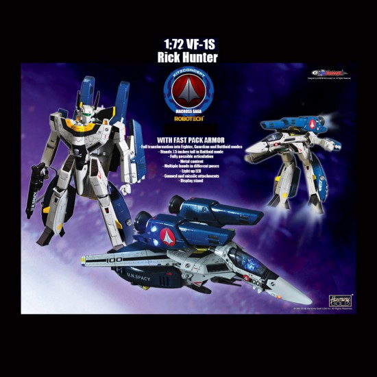 1/72 VF-1S RICK HUNTER WITH FAST PACK ARMOUR VERSION 2 PREORDER DEPOSIT (LIST PRICE USD199.90, DEPOSIT USD99.90)